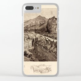 Edinburgh 1886 Clear iPhone Case