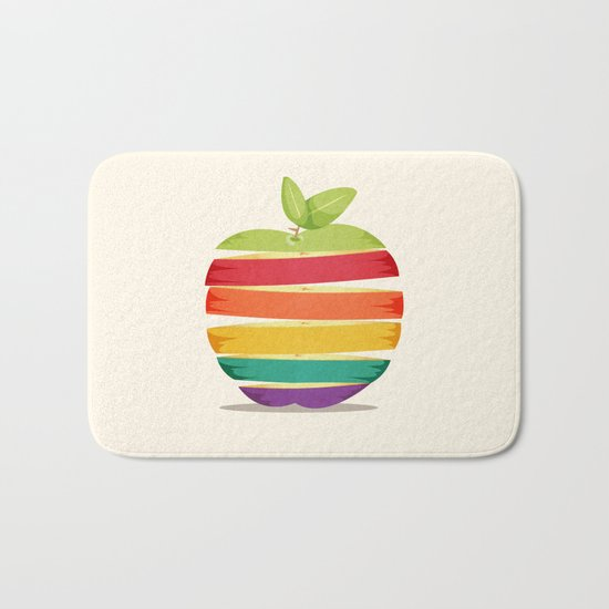 Rainbow Apple Bath Mat