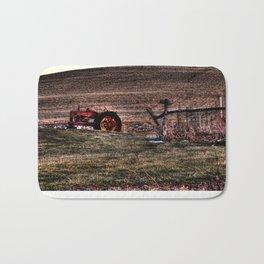 Autumn - Tractor in Ohio Bath Mat