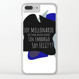 SOY MILLONARIO Clear iPhone Case