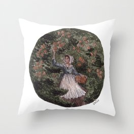 Orange Picking Throw Pillow