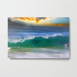 Emerald wave Metal Print