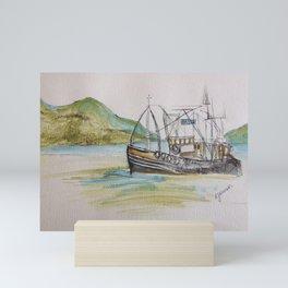 Boat on Loch Ness Mini Art Print