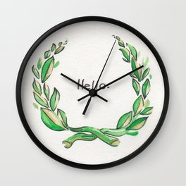 Why Hello There! Wall Clock