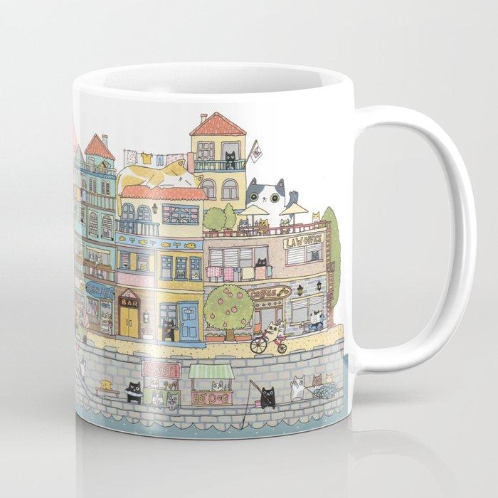 79 Cats in Harbor City Coffee Mug