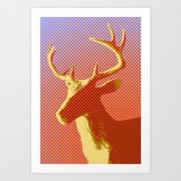 Sunset Stag Art Print
