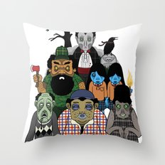 Dawn of the Plaid Throw Pillow