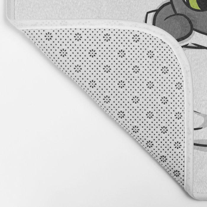 Cute Black Pocket Cat Bath Mat