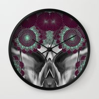 geode Wall Clocks featuring Geode 5 by michiko_design