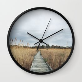 Nature walk in Cape May Wall Clock