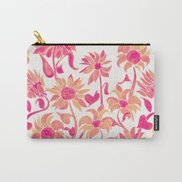 Sunflower Watercolor – Pink Palette Carry-All Pouch