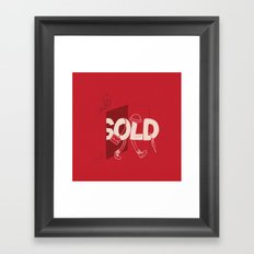 Sold Out Framed Art Print