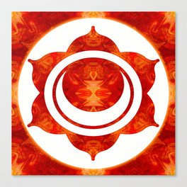 Exploding Sensuality Abstract Chakra Art Canvas Print