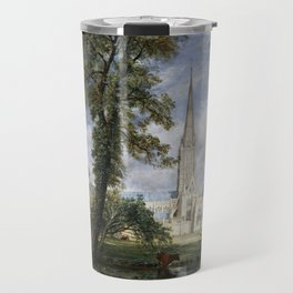 John Constable Salisbury Cathedral from the Bishop's Garden Travel Mug