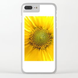 sunflower light Clear iPhone Case