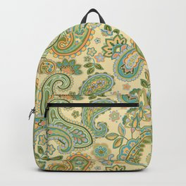 Yellow Paisley Backpack