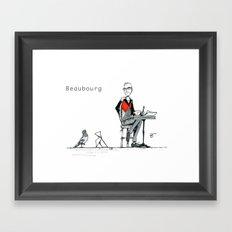 A Few Parisians: Beaubourg by David Cessac Framed Art Print