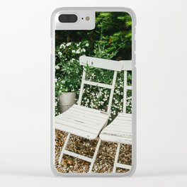 English Garden Chairs Clear iPhone Case