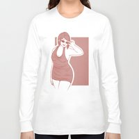 crowley Long Sleeve T-shirts featuring Fem!Crowley by Abbi Laura