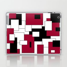 Squares - purple, black and white. Laptop & iPad Skin