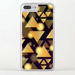 Gold Triangles Clear iPhone Case