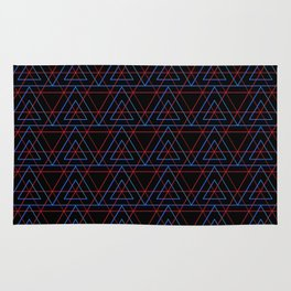 Infrared Neon Triangles Pattern Rug