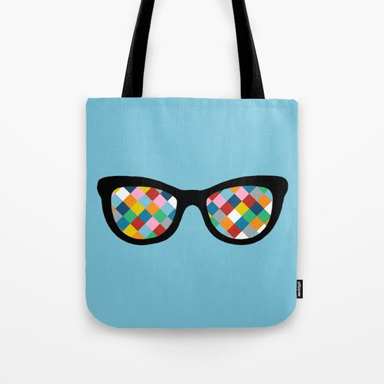 Diamond Eyes on Blue Tote Bag