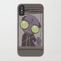 the office iPhone & iPod Cases featuring Office Zombie by John Schwegel