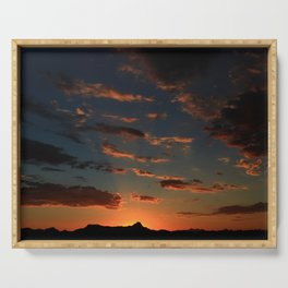 Deep Color Sunset Serving Tray