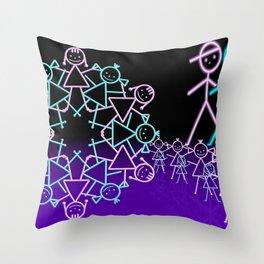 stick figures -1- Throw Pillow