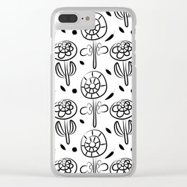 Pattern in Nordic Floral Style #7 Clear iPhone Case