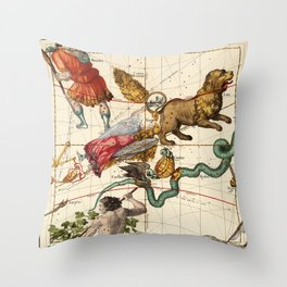 Virgo, Hydra, Crater, Bootes, Leo, Centaurus And Other Constellations Throw Pillow