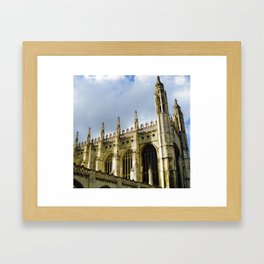 King's College at Cambridge Framed Art Print