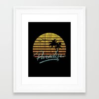 paradise Framed Art Prints featuring Paradise by Anthony Troester