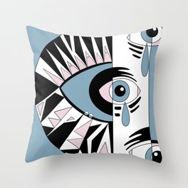 Crying Birch Tree Throw Pillow