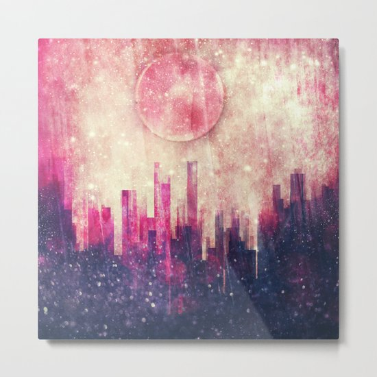 Mysterious city Metal Print