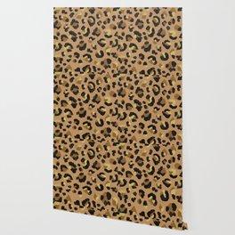 Leopard Print – Neutral & Gold Palette Wallpaper