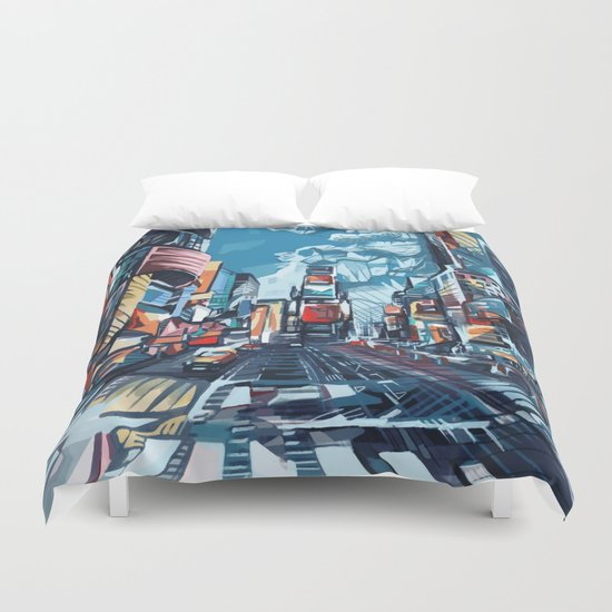 new york city-times square urban art Duvet Cover