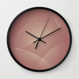 Brandy Rose, Coral Tree & Rodeo Dust Colors Wall Clock