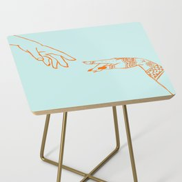 Henna hands Side Table
