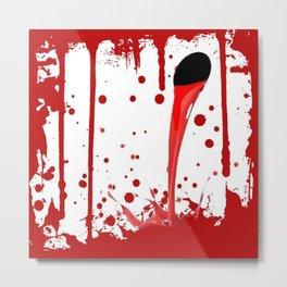 BLEEDING RED ART Metal Print