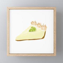 Key Lime Pie Framed Mini Art Print