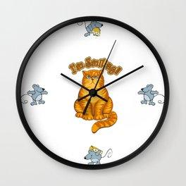 Smiling Cat Wall Clock