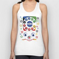 cartoons Tank Tops featuring Retro Vintage smiley kids Toys Dial Phone iPhone 4 4s 5 5s 5c, ipod, ipad, pillow case and tshirt by Three Second