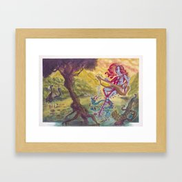 Saraswati, Goddess of the Arts Framed Art Print