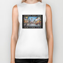 Times Square Sparkle (with type on black) Biker Tank
