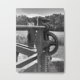 Gears and grease Metal Print