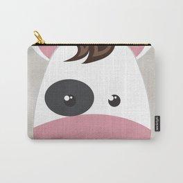 cow cartoon watercolour modern art Carry-All Pouch