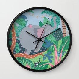 The Elephant is a funny bird Wall Clock