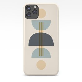 Sapphire Abstract Half Moon 1 iPhone Case